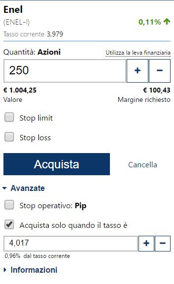 Come programmare un acquisto su Plus500