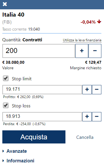 ordine stop limit su Plus500