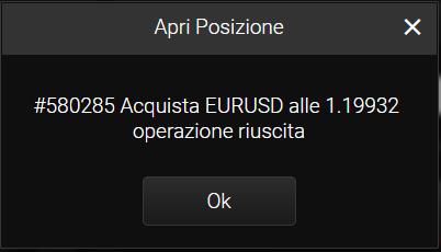 Conferma operazione di trading su 24option