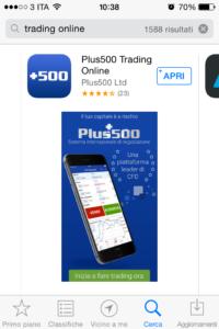 La app di Plus500
