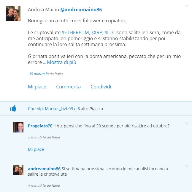 Utenti italiani su eToro