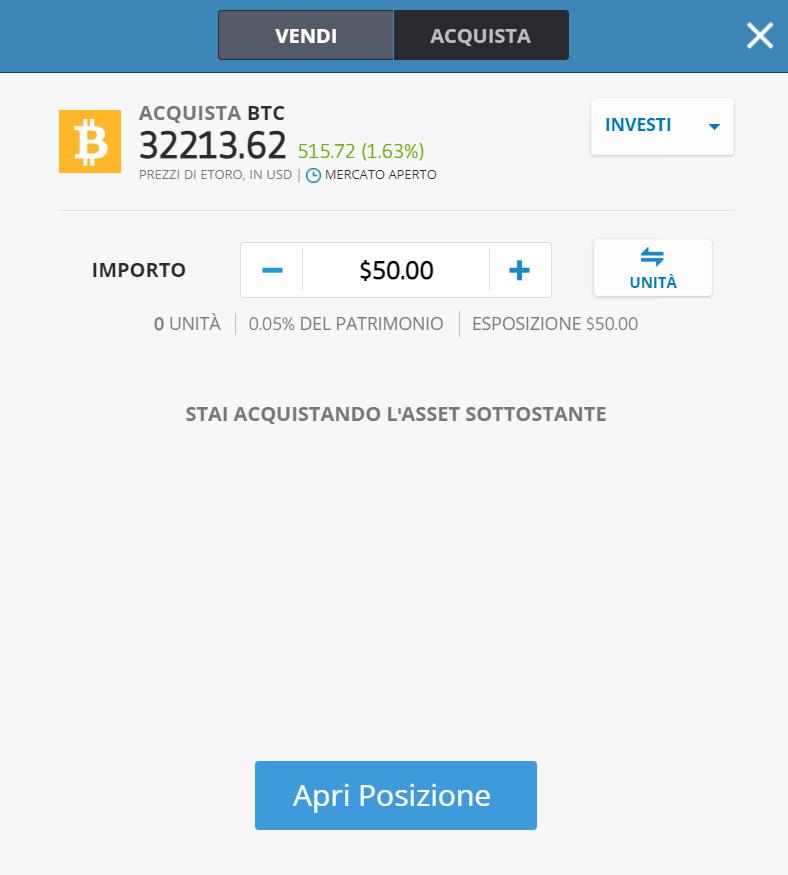 Come comprare bitcoin con postepay su eToro