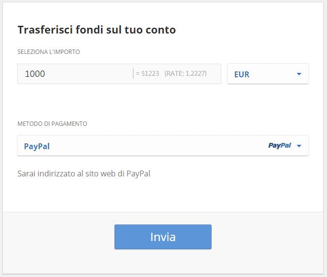 Come comprare Ethereum con Paypal su eToro
