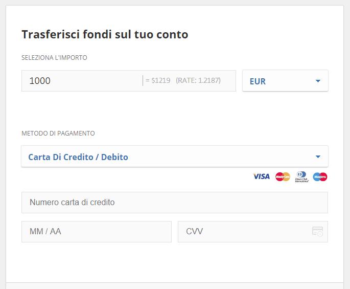 Comprare ethereum con carta di credito su eToro