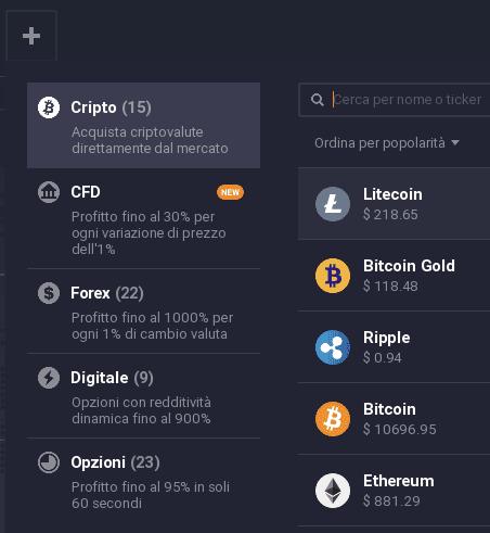 Come selezionare Litecoin sulla piattaforma IQ Option