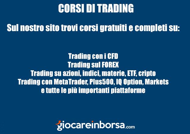 I corsi di trading online presenti sul sito giocareinborsa.com