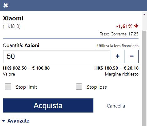 50730e92cc Come comprare azioni Xiaomi con Plus500 con CFD - Giocareinborsa.com
