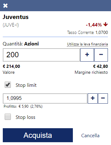 Come applicare lo stop limit su Plus500