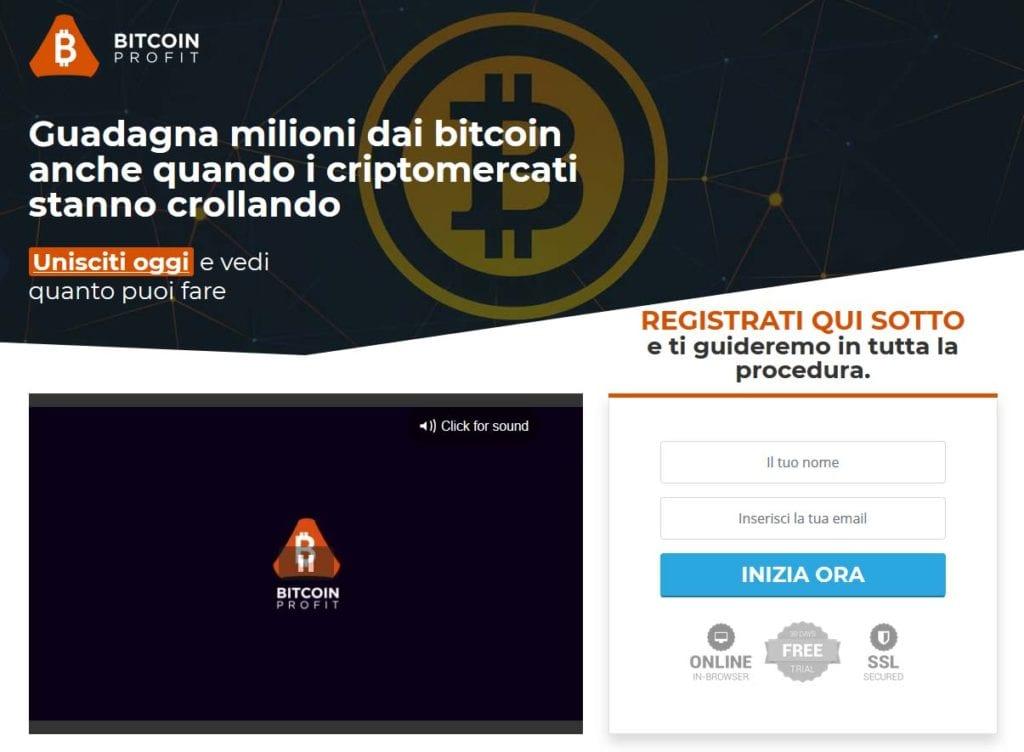 Come si presenta il sito di Bitcoin Profit