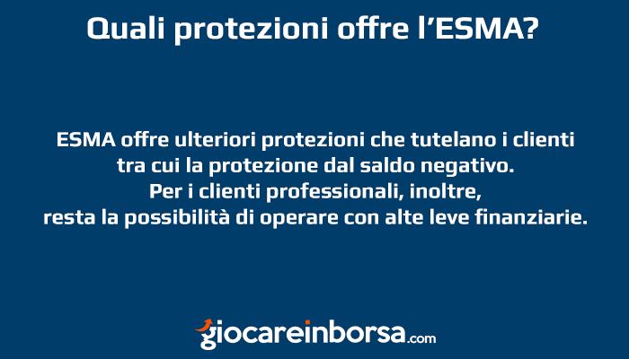 Protezione ESMA cosa prevede