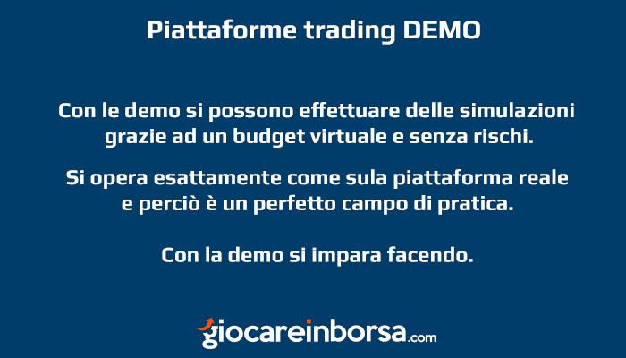 I vantaggi della piattaforma di trading demo