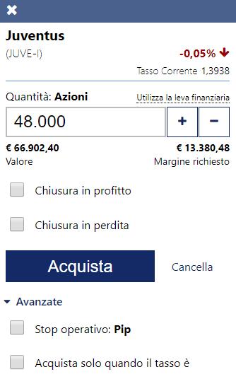 Come si compone l'ordine di acquisto o vendita su Plus500