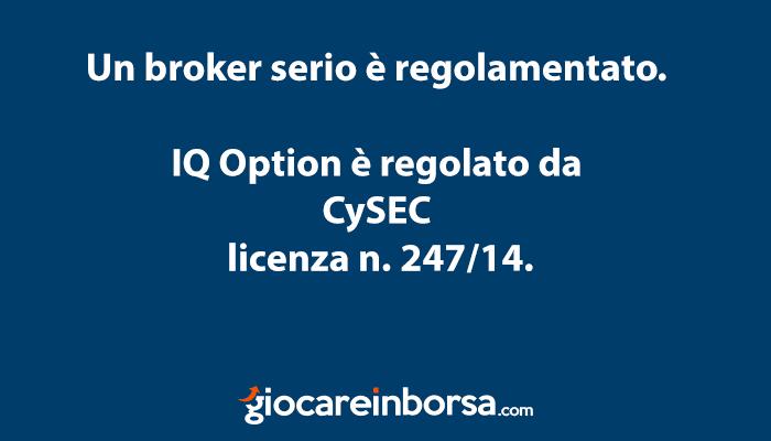 IQ Option non è una truffa in quanto un broker regolamentato