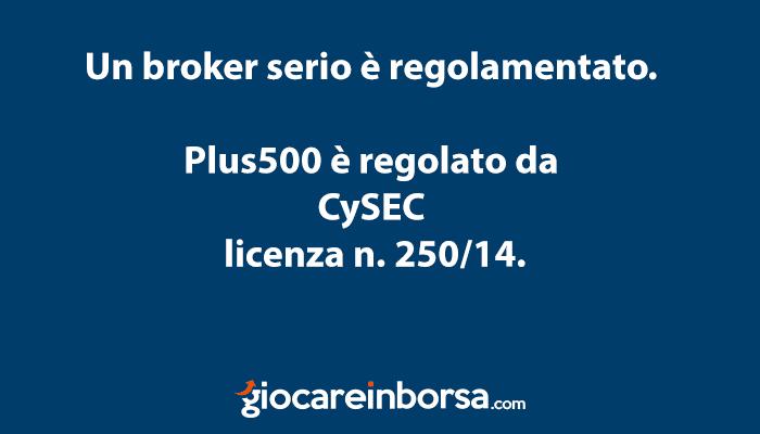 Plus500 non è una truffa in quanto un broker regolamentato