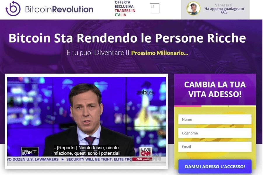 Il sito di Bitcoin Revolution