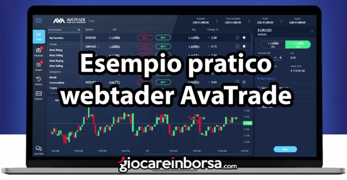 Esempio pratico di trading con la piattaforma webtrader di AvaTrade