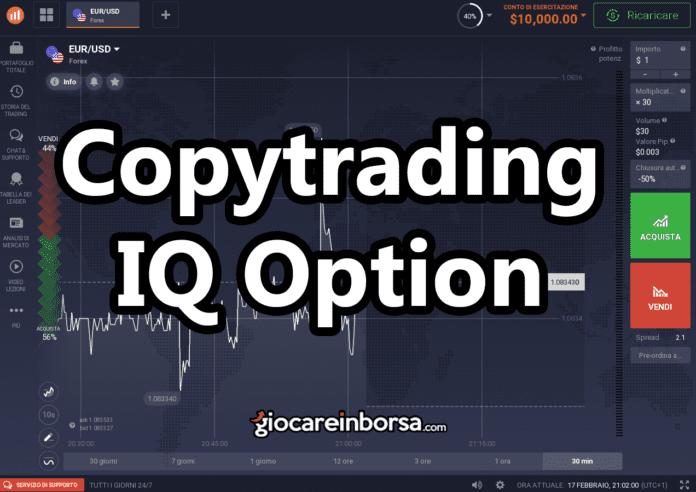 Parliamo del copy trading su IQ Option