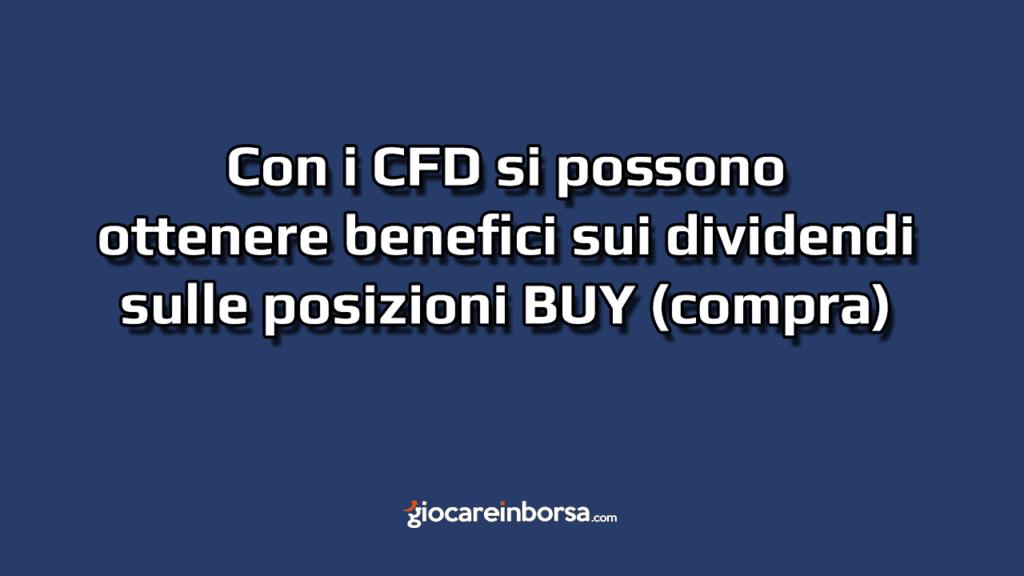 I dividendi con i CFD