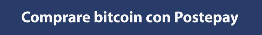 Come comprare bitcoin con Postepay