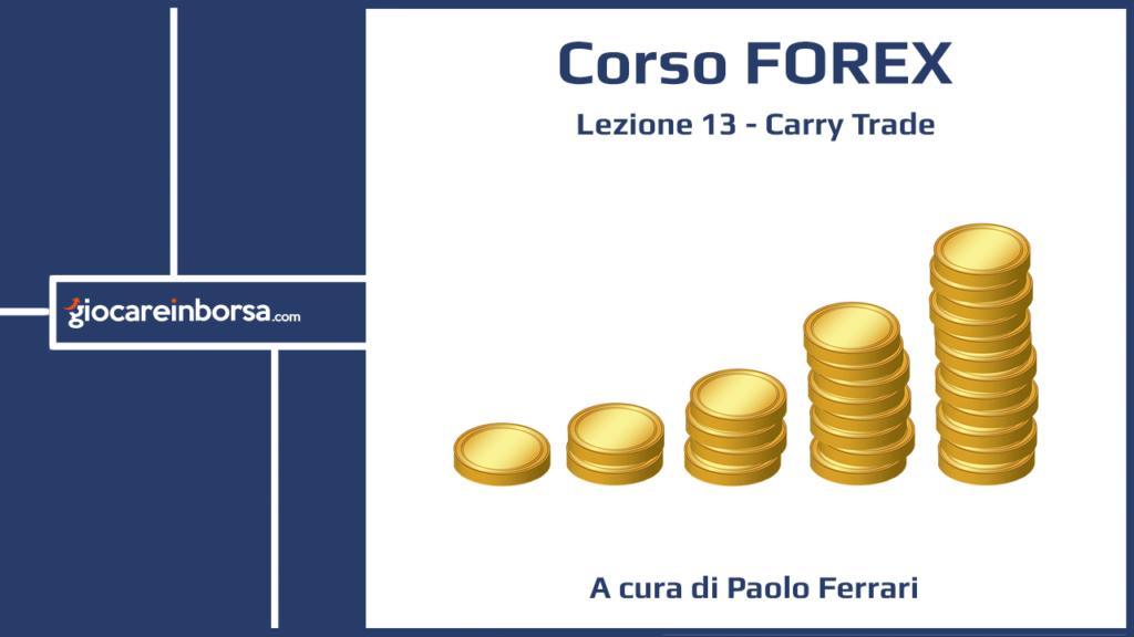 Lezione 13 del Corso Forex di Giocare in Borsa, dedicata al carry trade