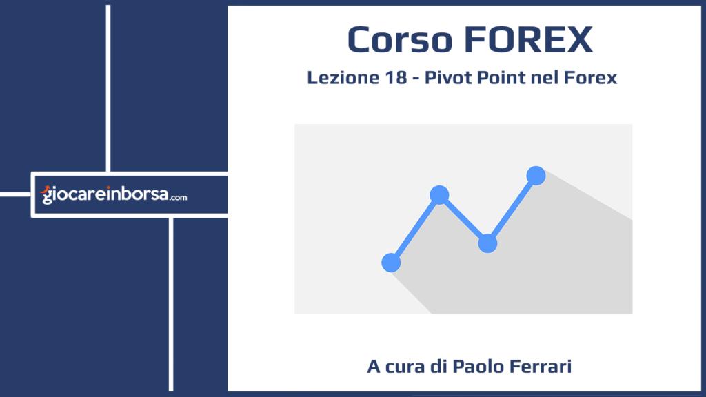 Lezione 18 del Corso Forex di Giocare in Borsa, dedicata al calcolo del Pivot Point