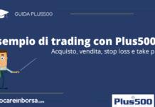Lezione della guida dedicata ad un esempio di trading con Plus500
