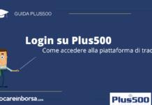 Login su Plus500, come accedere alla piattaforma di trading
