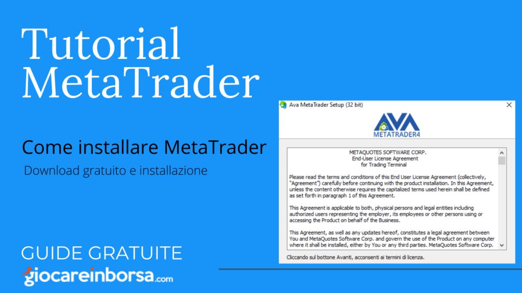 Come installare Metatrader