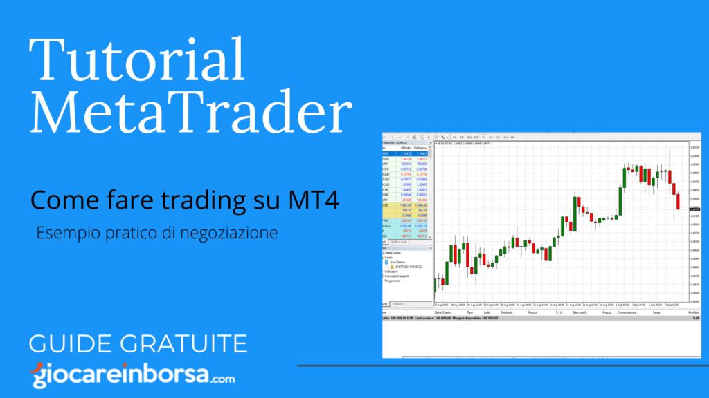 Come fare trading con MetaTrader 4, esempio pratico