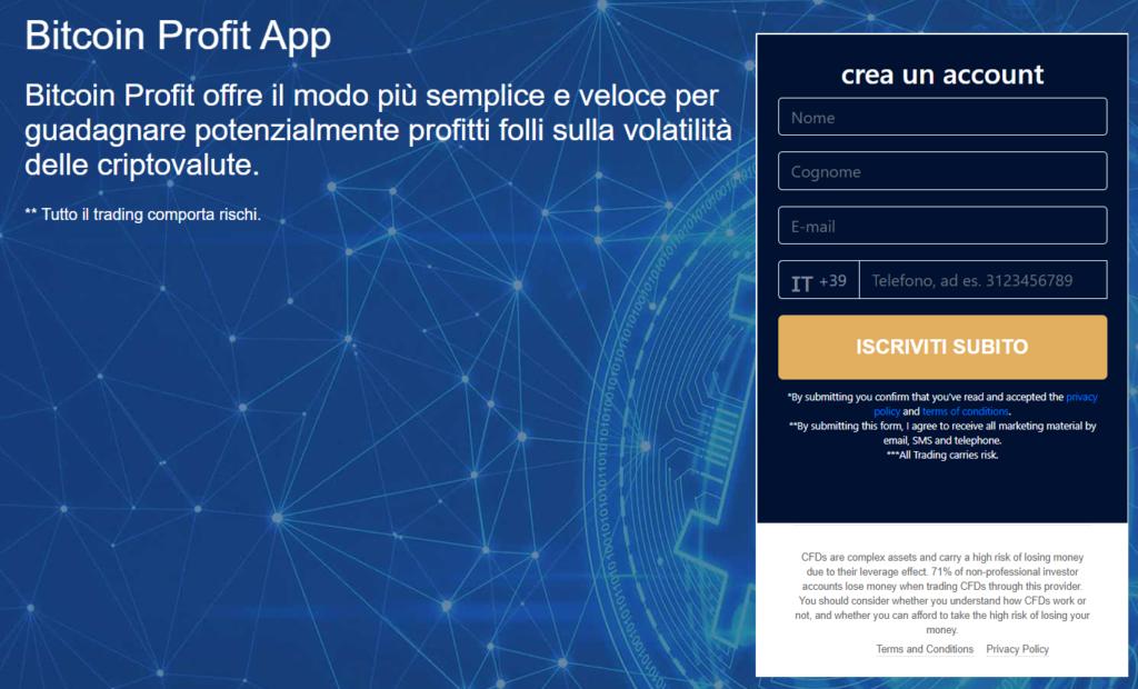 Il nuovo sito ufficiale di Bitcoin Profit