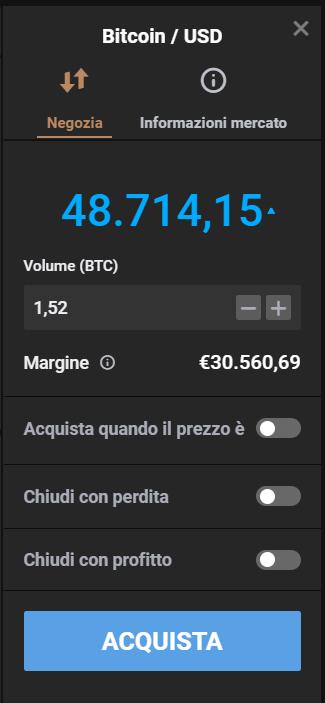 La finestra dell'ordine per negoziare al rialzo sul bitcoin