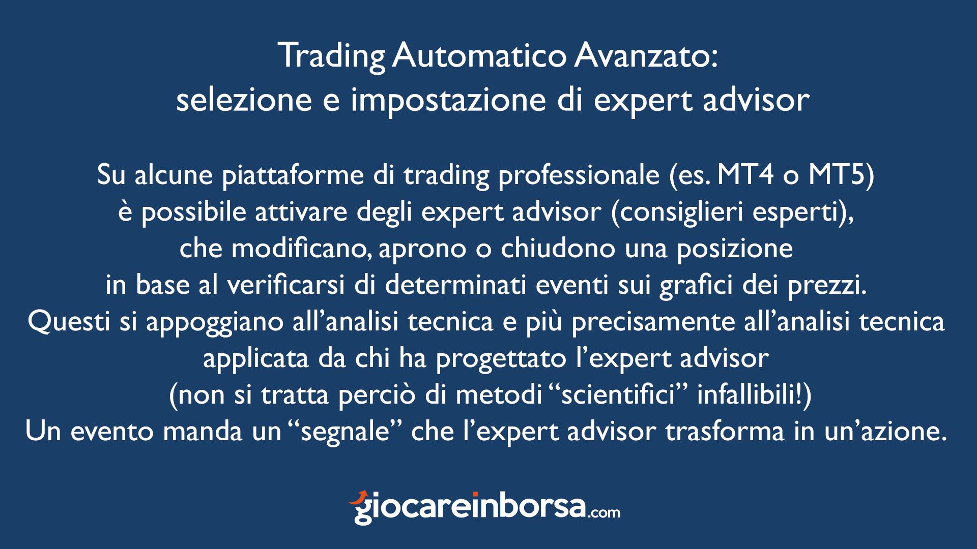 cosè il trading automatico