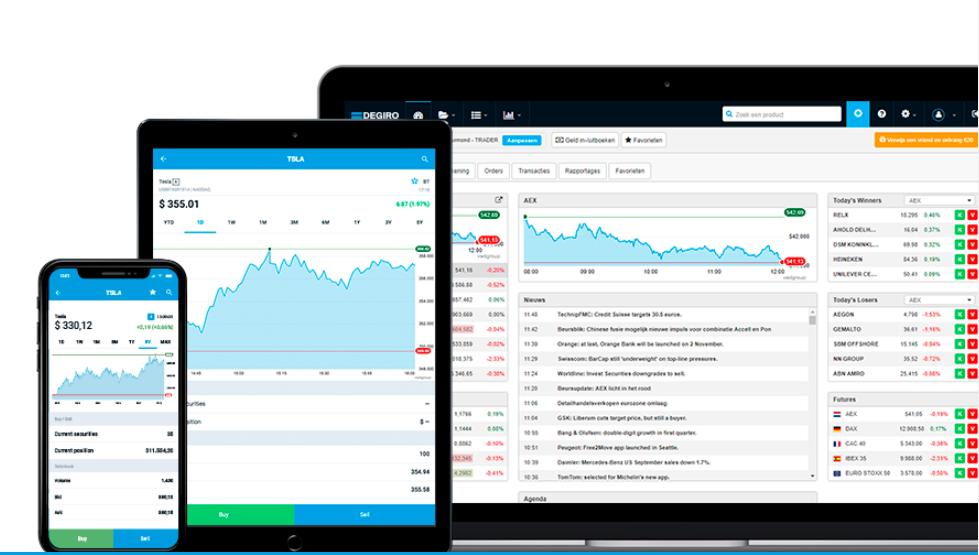 Le piattaforme di trading Degiro