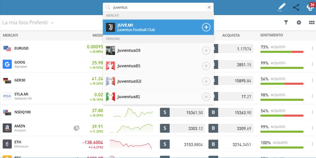 Come trovare le azioni Juventus per acquistarle